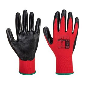 Flexo Grip Gants Nitrile Rouge / Noir