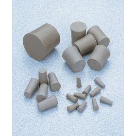 Bouchons en caoutchouc gris, fond tronconique, solides