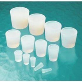 Bouchons en silicone, transparents, forme tronconique, solides