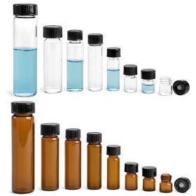Wheaton fioles 8ml - bouchon en phénolique noir & doublure en (PTFE)/caoutchouc 14B