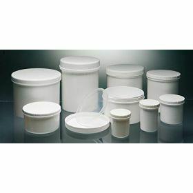 Pommadiers en  PP blanc ou PS transparant , avec cape à vis (blanche ou ivoire), avec ou sans obturateur