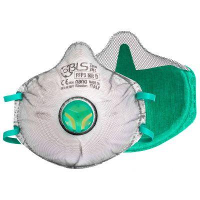 BLS Zer0 30C masque coqué  FFP3 Nano - valve - joint partiel - charbon actif