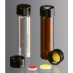 Brown Flacons en borosilicatel ambre, 8ml, Ø16x61mm, taille du bouchon 15-425